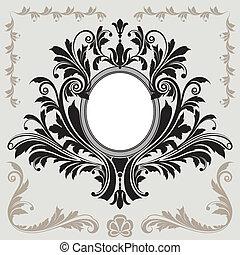 decoración floral, marco