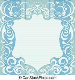decoración floral, resumen, marco