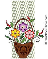 decoración, flores