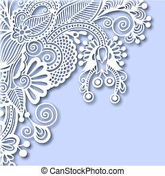decoración, florido, navidad, tarjeta de felicitación