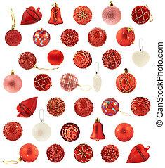 decoración, grande, navidad, colección