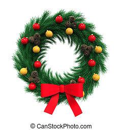 decoración, guirnalda, navidad