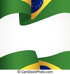 decoración, insignia, brasil