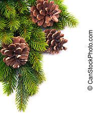 decoración, marco, navidad