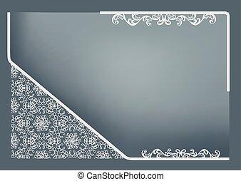 decoración, marco, resumen, rectangular