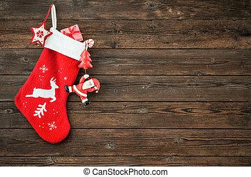 decoración, media de navidad