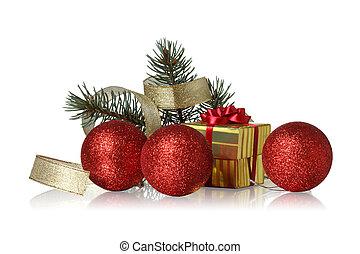 decoración, navidad blanca, plano de fondo
