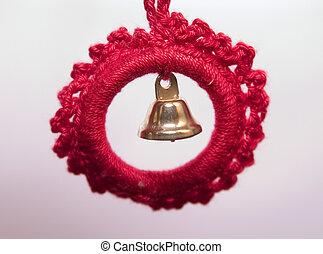 decoración, navidad, campana