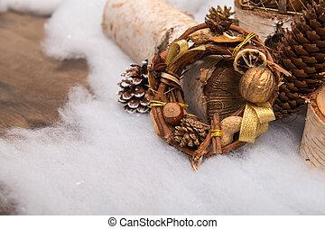 decoración, nuevo, navidad, año