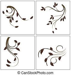 decoración, plantas
