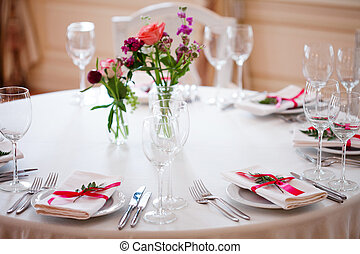 decoración, restaurante, informal, banquete, floral, boda,...