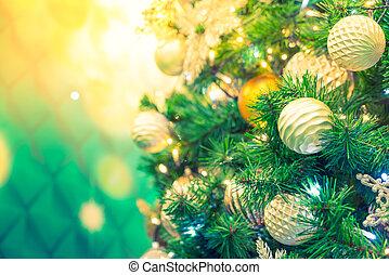 decoraciones, effect., vendimia, imagen, árbol, ), primer plano, procesado, plano de fondo, (, filtrado, navidad