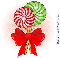 decorado, cana, natal, doce, arco