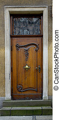 decorado, moda velha, porta