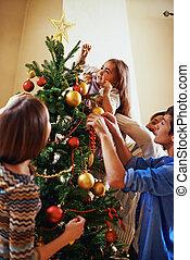 decorar, firtree, juntos