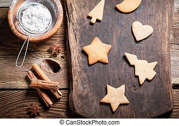 decorar, galletas, navidad