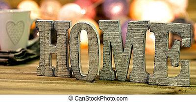 decorar, interior, hogar