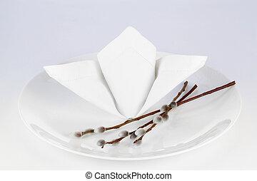 decorar, platos, para, pascua
