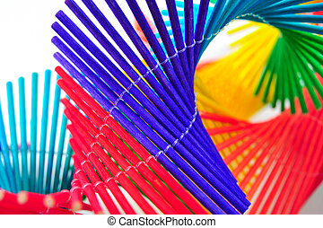 colorful bamboo mobile