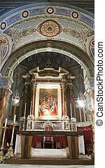 Decorated alter in church