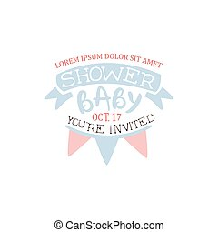 Decorated Baby Shower Invitation Design Template