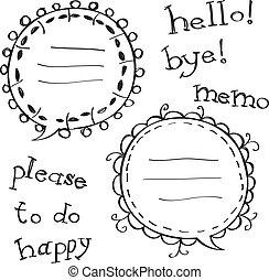 decorated bubble speech