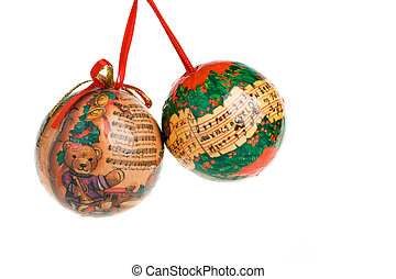Decorated Christmas balls