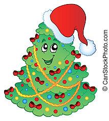 Decorated Christmas tree 2
