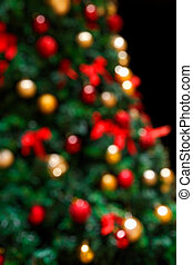 Decorated Christmas Tree Bokeh Background