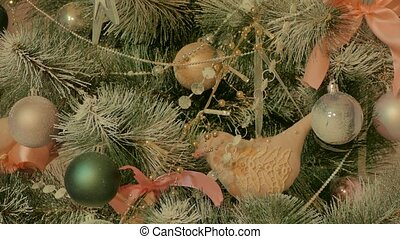 Decorated Christmas tree - Christmas tree decorated with...