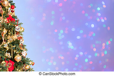 Decorated christmas tree in hero header format - Ornately...