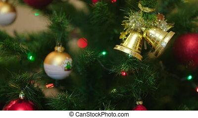 Decorated christmas tree with illumination