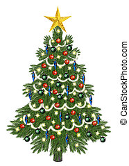 Decorated christmastree for christm