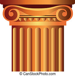 column top capital - decorated column top capital...