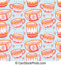 decorated cups pattern