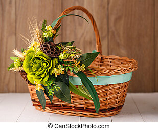 Decorated Easter basket