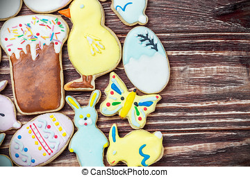 decorated Easter cookies homemade