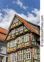 Decorated facade of a historic house in Celle