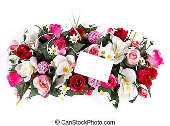 decorated flowers basket