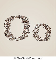 Decorated letter o