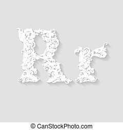 Decorated letter r