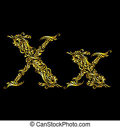 Decorated letter 'x'