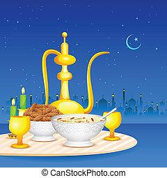 Decorated mosque on Eid Mubarak (Happy Eid)