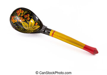 Decorated Russian Wooden Spoon