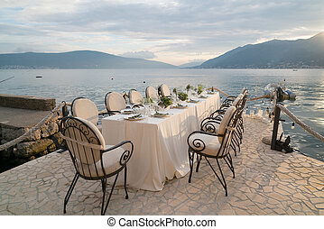 decorated table for a wedding dinner