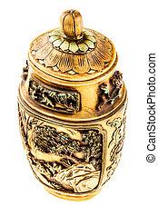 Decorated urn