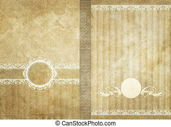 Decorated vintage paper background.