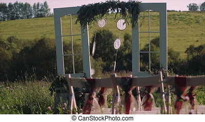 Decorated Wedding Arch Rustic Style