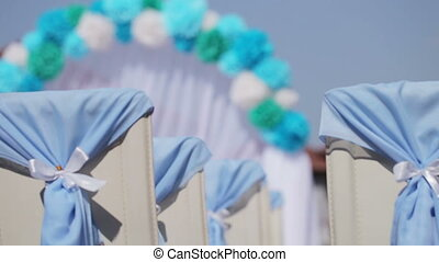 Decorated wedding ceremony - Design elements of a wedding...