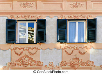decorated windows